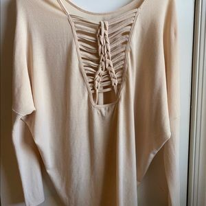 Ya Los Angeles sexy woven back Top NWT!